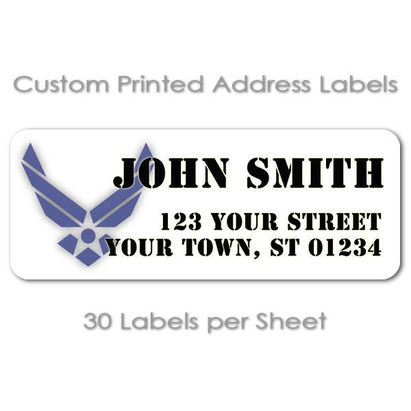 usaf 30 per sheet air force personalized mailing return address