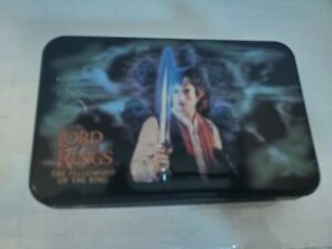 Lord of The RIngs 2 Deck Card Game and Metal Tin Box Frodo Gandalf Gollum Bilbo