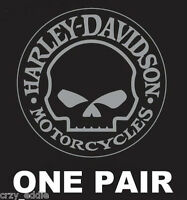 Harley Davidson Willie Skull Decal One Pair Made In Usa
