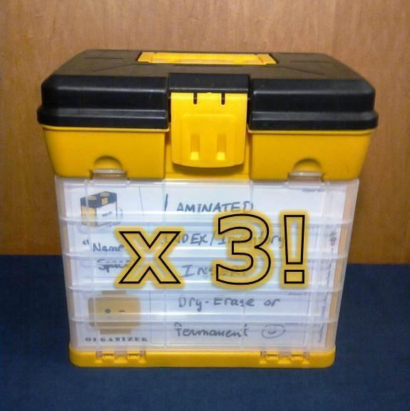 3pk  Diversión con cajón de almacenamiento Organizador ladrillos  & sistema para conjuntos de LEGO, Bin piezas