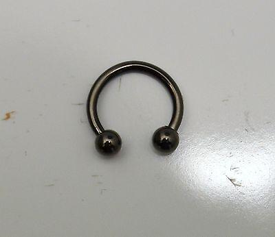 Piercing micro fer à cheval avec bille 1.2 mm pour téton arcade oreille
