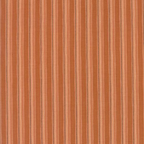 Plush 17898 16 Moda Stripe Terra Cotta Fabric 1//2 Yard