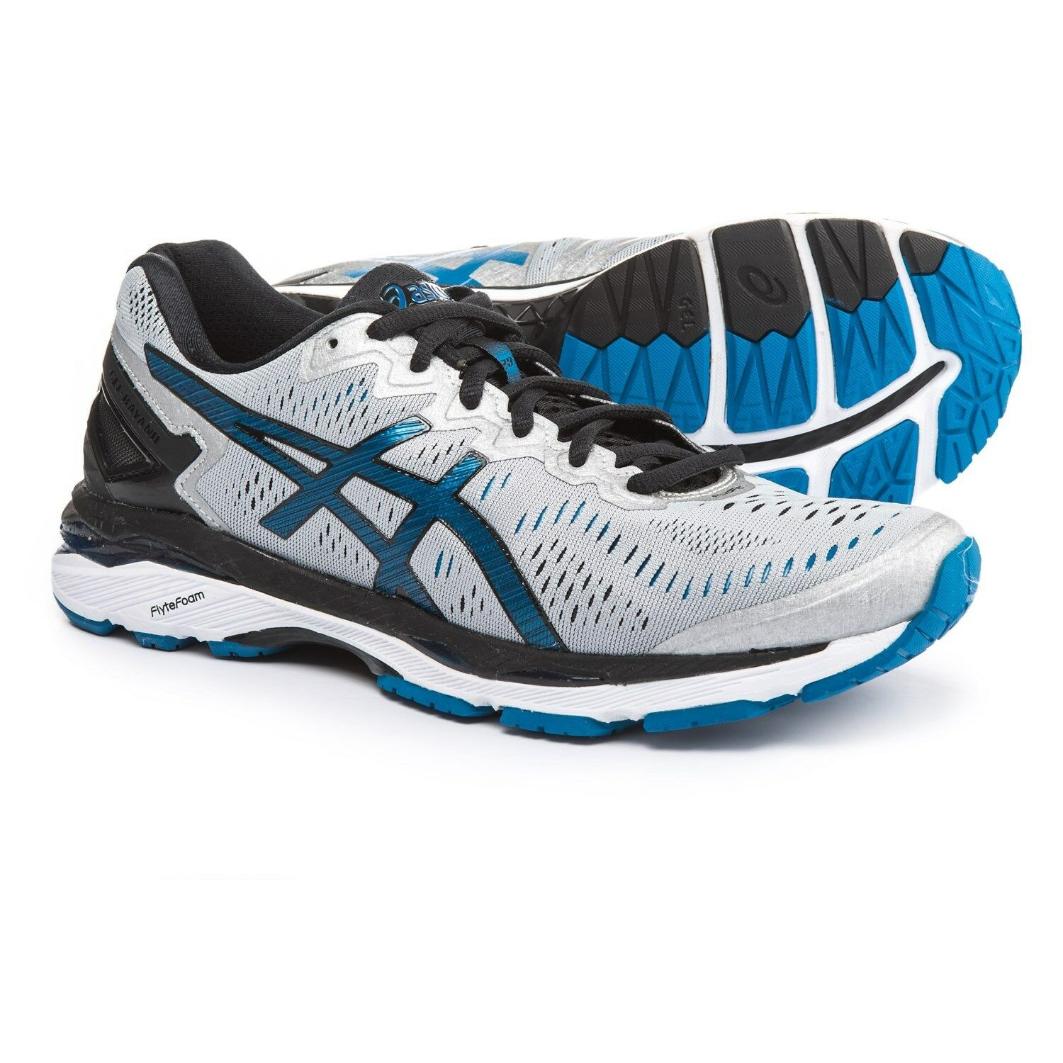 New Mens  Asics Gel-Kayano 23 T646N-9345 Silver/Black Running Shoes Size 8