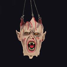 BRISTOL NOVELTY VAMPIRE HANGING HEAD HALLOWEEN PROP. LIGHT & SOUND. HORROR. GORE
