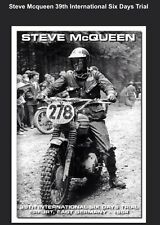 Steve McQueen 39th International Six Days Trial East Germany Motorcycle Poster!