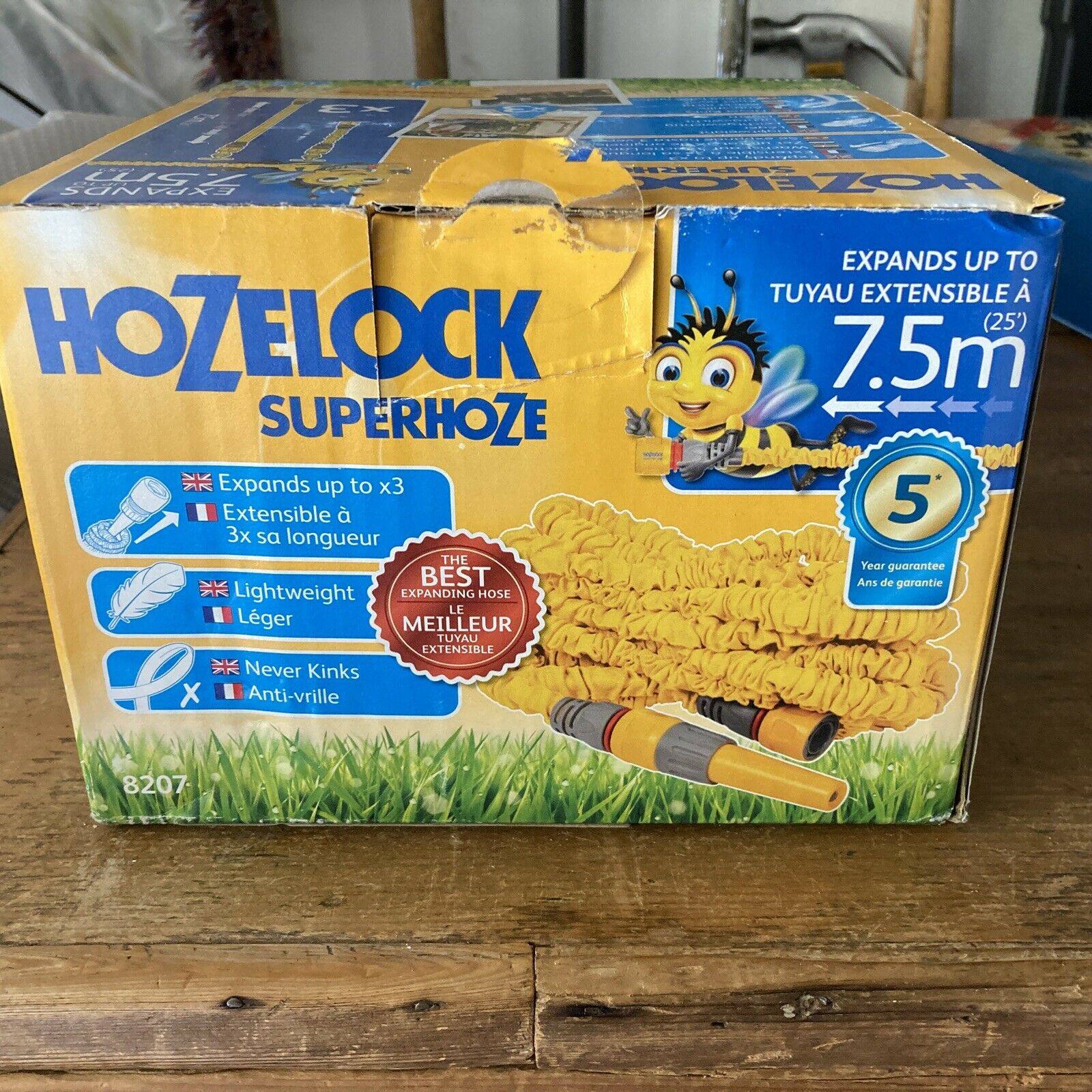 Hozelock Superhoze 7.5m, Used Once.