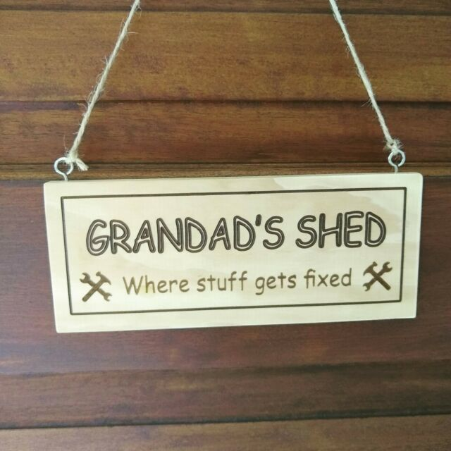 Dads Shed Slate Sign Plaque Keep Out Garden Hanging Fathers Day//Birthday Gift