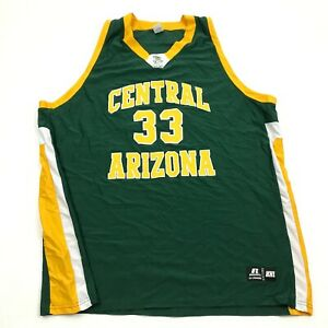 VINTAGE Russell Central Arizona Vaqueros Basketball Jersey Men's Size 2XL TALL