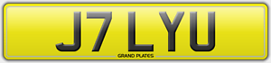 J7-LYU-NUMBER-PLATE-JILLY-U-REGISTRATION-ASSIGNED-4U-JILL-UK-REG-NO-FEES-JILLIAN