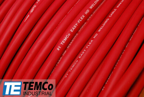 WELDING CABLE 4 AWG RED 30/' FT BATTERY LEADS USA NEW Gauge Copper