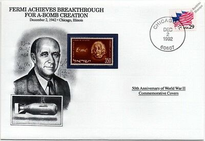 PHYSICIST ENRICO FERMI MANHATTAN PROJECT US STAMPS MINT Details about  /ATOMIC BOMBS END WWII