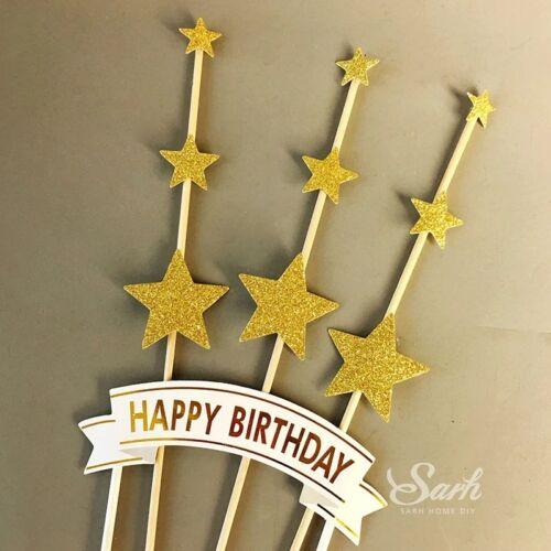 Gâteau Cupcake Topper Joyeux Anniversaire Mariage Pâques Anniversaire Bébé Fête Décor