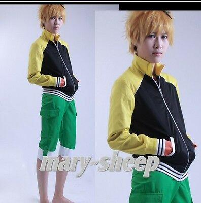 Hot Japan Anime Tokyo Ghoul Nagachika Hide Cosplay Costume Everyday Coat+Pants