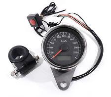 TOP LCD Mini Tachimetro elettronico nero 60mm per Harley Sportster bici