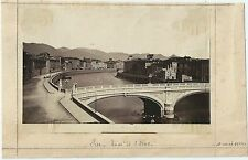 1884 PISA PONTE NUOVO ARNO foto albumina originale