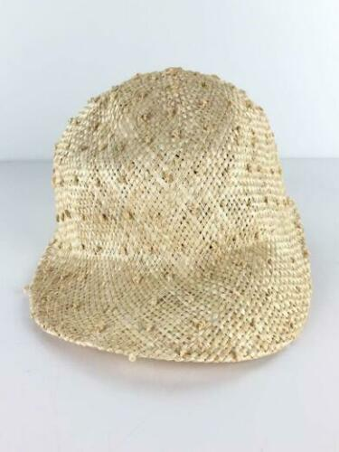 JANESSA LEONE S Beg Straw  beige Cap 4754 From Jap
