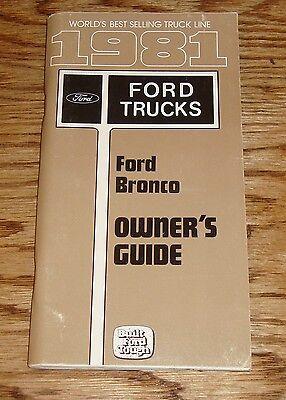 original  ford bronco owners operators manual  ebay