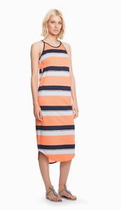 Country-Road-size-L-12-14-XL-14-16-Cut-Away-Stripe-Midi-Dress