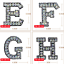 miniature 3 - Rhinestone Letter Patches Sew on Iron on Alphabet Patch Letters Embroidered A-Z