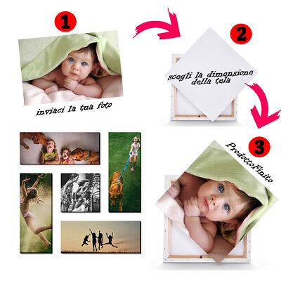 CREA LA TUA TELA PERSONALIZZATA CON LA TUA FOTO,FRASE,IMMAGINE PREFERITA 30 x 40