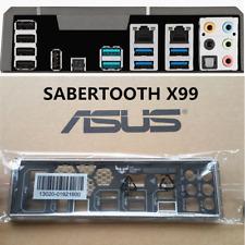 ORIGINAL ASUS IO Shield BACK PLATE for ASUS SABERTOOTH  X99 COLOR  BLACK