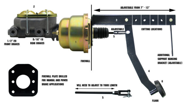 Leed Brakes PB04 7 Inch Booster
