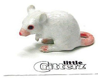 Little Critterz - White Mouse - LC123 (Buy 5 get 6th free!)