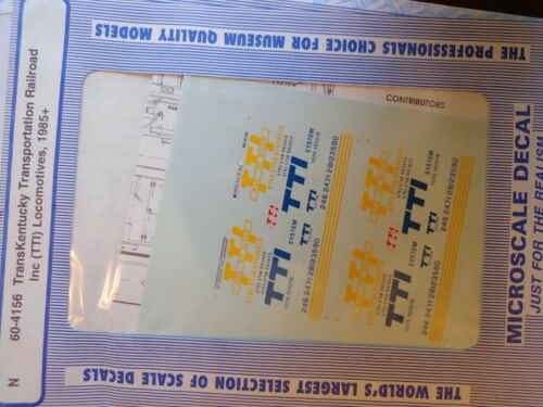 TTI Microscale Decal N  #60-4156 TransKentucky Transportation Railroad Diesel