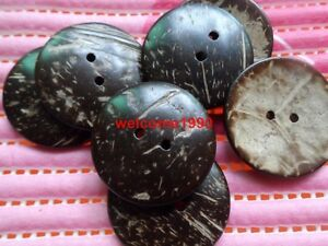 30pcs 13*33mm crescent moon Scrapbooking Sewing overcoat Nature coconut buttons