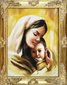 Religion-Mary-Handmade-Oil-Painting-Picture-Oil-Frame-Pictures-G93612