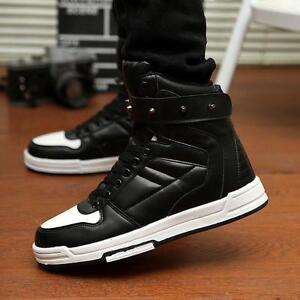 aa8bf3bd0cdc Korean Style Men s Chic High Top Sneakers shoes Ankle Boots Casual ...