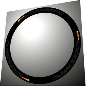 SLR MAVIC COSMIC CARBONE ORANGE COLOR SL SLE RIM DECAL SET FOR TWO RIMS
