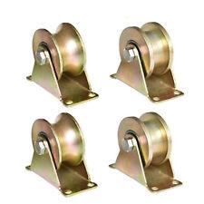 4pcs 2 Inch V Groove Track Caster Wheel Steel Sliding Door Roller For Gate Frame