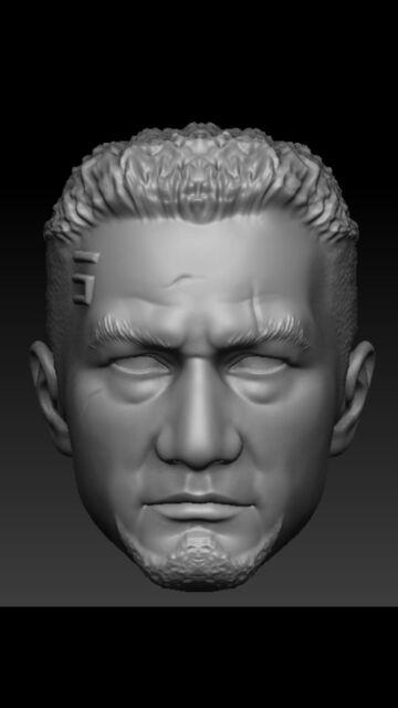Star wars battle front Del Meeko custom head sculpt hasbro black series