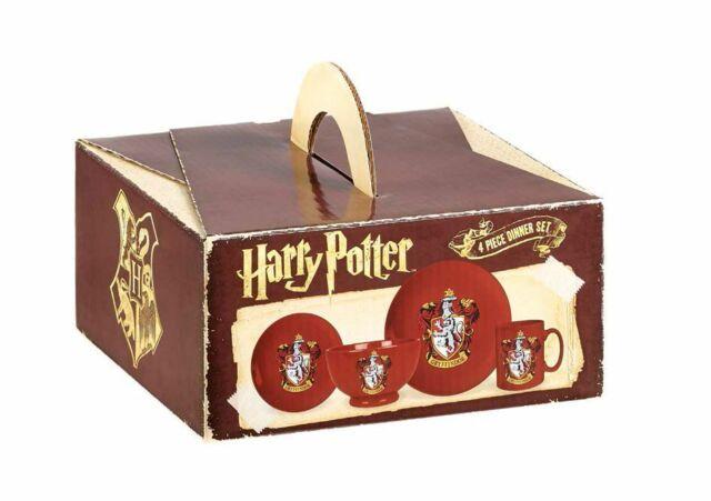 Kitchenware--Harry Potter - Gryffindor 4 Piece Ceramic Dinner Set