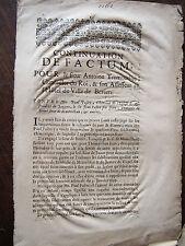 DROIT BEZIERS 1693 MEMOIRES PROCES Antoine  TREMOUILHE contre  un chamoine