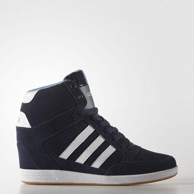 ADIDAS Haut Bleu Confort Daim Compensé Bottes Chaussures Marche AW4847 Nib Prm | eBay