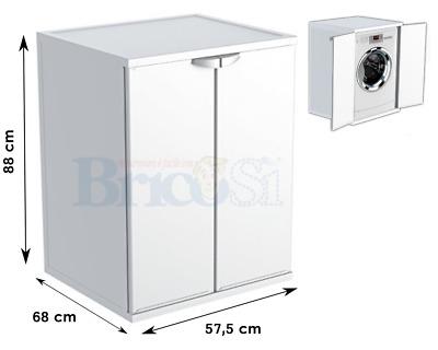 Mobile coprilavatrice in resina da interno esterno copri for Mobile coprilavatrice da esterno