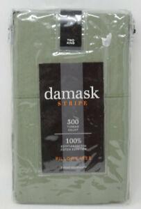 Damask Stripe 500 Thread Count 100/% Egyptian Cotton Standard Pillowcases Brown