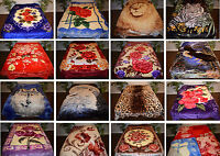 Queen 2 Ply 2ply Reversible Korean Style Soft Mink Blankets - Buy 3 Get 1 Free