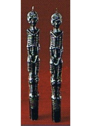 2 chandelles sculptées 25 cm Bougies en forme de squelette très belle qualité