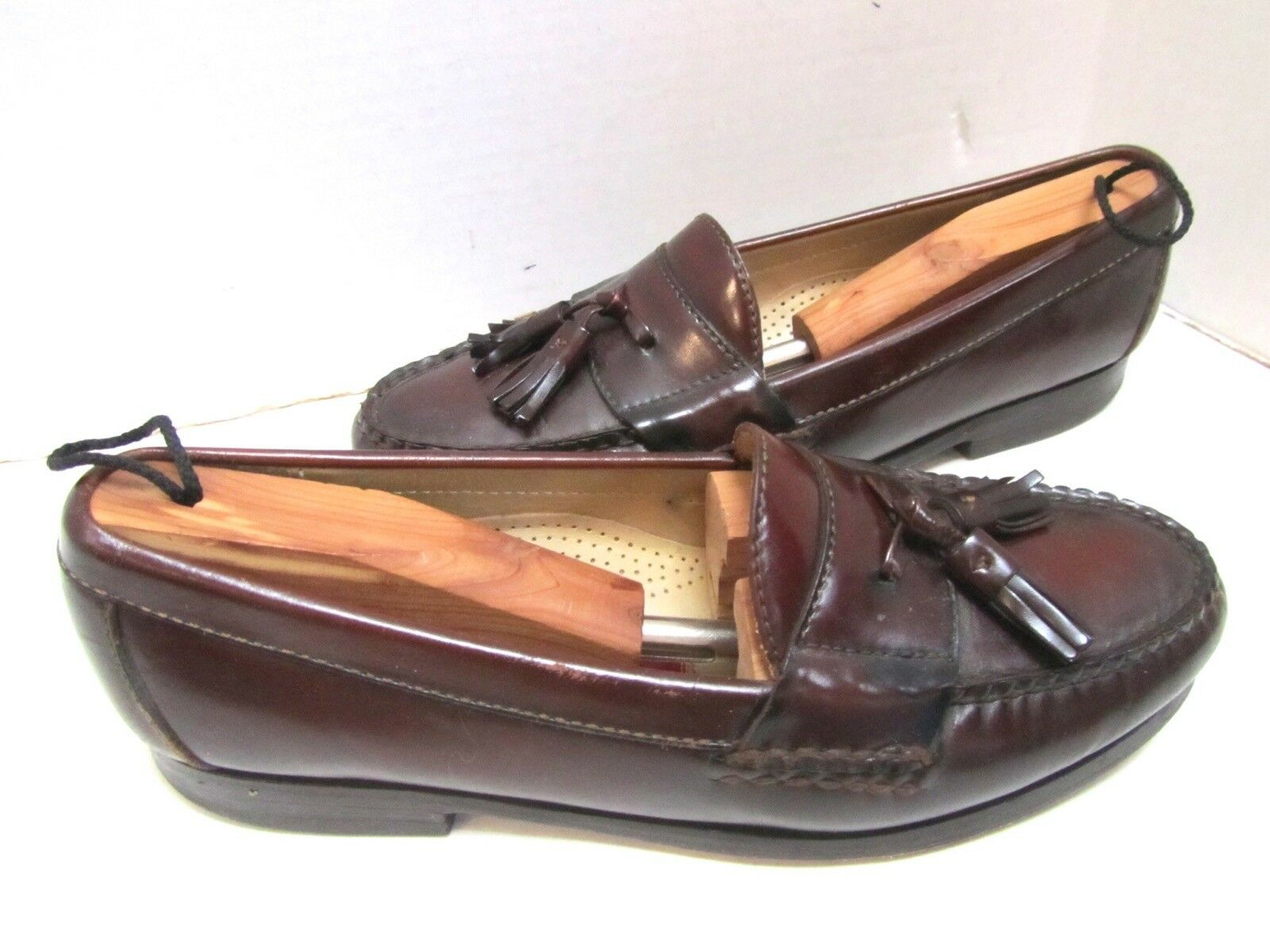 Cole Haan Cordovan Marronee Leather Tassled Loafer 7.5 D