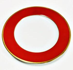 Haviland-Limoges-Laque-De-Chine-Gold-Rim-Brique-Bread-amp-Butter-Plate-6-1-4-034-D