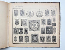 1914 Imperial Russian ALBUM OF RARE STAMPS Antique Illustrated Book with prices