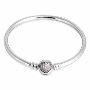pandora moments silver bracelet with heart clasp