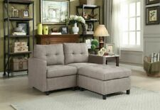 Modern 2 Seat Loveseat Sectional Sofa Couch with Ottoman for Bedroom Small Space