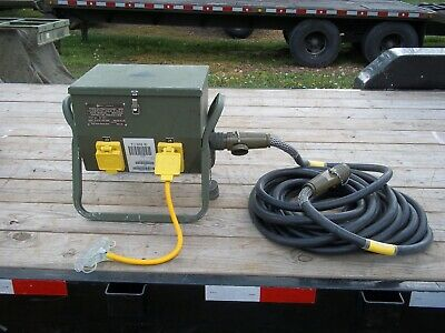 Ex Army Military 3 Way Power Extension Generator Distribution Box Socket NEW