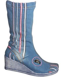 jeans stiefel mit keilabsatz 7 cm high denim. Black Bedroom Furniture Sets. Home Design Ideas