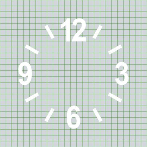 strokes Black Tattoo Sticker Decoration Foil Clock Dial Numbers Digits 6cm