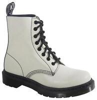 Ladies Dr Martens Pascal Boots - White & Black Cristal Suede - Uk 4 - 8